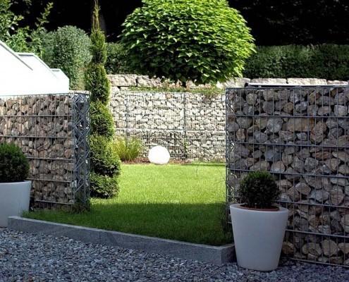 Zaun gabionen und torbau for Alternative zu gabionen